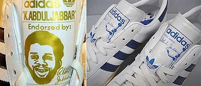 adidas jabbar アディダス ジャバー 左が顔ラベル。右がスカイフックラベル