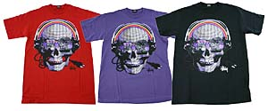 stussy cyber skull tee カラーは4色展開