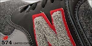 new balance m574j leg [international limited edition] Nロゴに起毛素材を使用