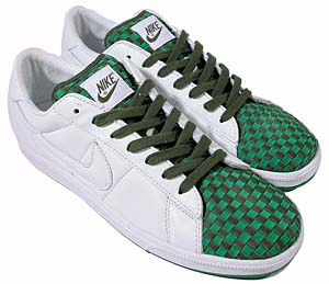 nike tennins classic [white/green woven] (313317-112) ナイキ テニスクラシック 「ホワイト/グリーンウーブン」