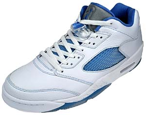 nike wmns air jordan 5 retro low [white/blue] (314337-141) ナイキ エアジョーダン5 レトロ ロー 「白/青」