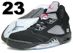 nike air jordan 5 retro [numbering #23 / black/silver] ナイキ エア