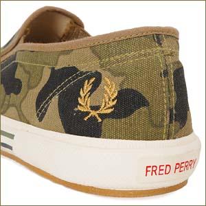 fred perry slip-on [camouflage] (b804) フレッドペリー スリッポン 「カモフラージュ」