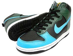 nike dunk hi [blue x green crocodile] (312423-041) ナイキ ダンク ハイ 「ブルー × グリーン クロコダイル」