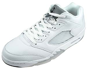 nike wmns air jordan 5 retro low [white/silver] (314337-101) ナイキ エアジョーダン5 レトロ ロー 「白/銀」