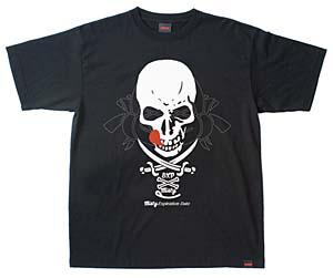 ホワイトとブラックの2種類をラインナップ。crimie misty expiration date skull Tシャツ