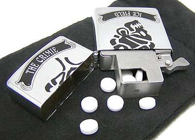 frisk case & lighter [tab-dock × crimie ×zippo × ice field special collaboration] フリスクケース & ライター 「クライミー × タブドック × ジッポー × アイスフィールド コラボレーション」