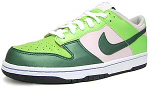 nike wmns dunk low [pink/forest green] (308608-631) ナイキ ダンク ロー 「ピンク / グリーン」