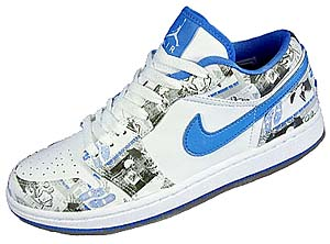 nike wmns air jordan 1 retro low [white/university blue] (316297-141) ナイキ エアジョーダン1 レトロ ロー 「白/青」