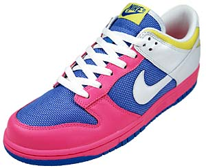 nike wmns dunk low [pink/blue] (309324-614) ナイキ ダンク ロー 「ピンク/ブルー」