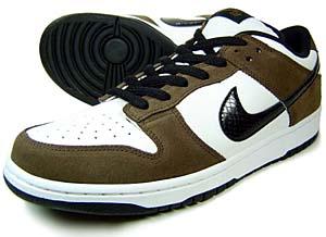 nike dunk low pro sb [white/black/brown] (304292-102) ナイキ ダンク ロー プロ SB 「ホワイト/ブラック/ブラウン」