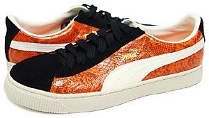 puma reptile lo [team orange/black/whisper] (344199 02) プーマ レプタイル ロー 「オレンジ スネーク」