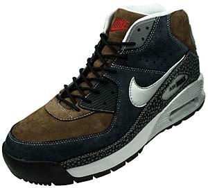 nike air max 90 boot [s.grn/n.gry-v.red] (316339-201) ナイキ エアマックス90 ブーツ 「ブラウン/グレー」