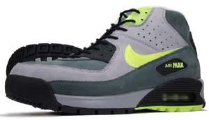 nike air max 90 boot [stealth/volt-flint grey] (316339-071) ナイキ エアマックス90 ブーツ 「グレー/イエロー」