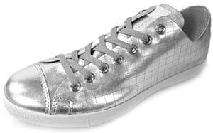 converse ct all star csm ox leather [silver/grey] コンバース CT オールスター CSM OX レザー 「メタリックシルバー」