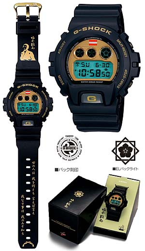 g-shock × 坂本龍馬コラボレーションモデル (dw-6900bryo-9jf)