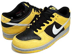 nike dunk low [blk/n.gry-v.maize] (318019-001) ナイキ ダンク ロー 「サイドメッシュ/黒/黄」