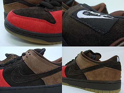 NIKE DUNK LOW PRO SB [DARK CINDER/BISON-SPORT RED] 304292-226