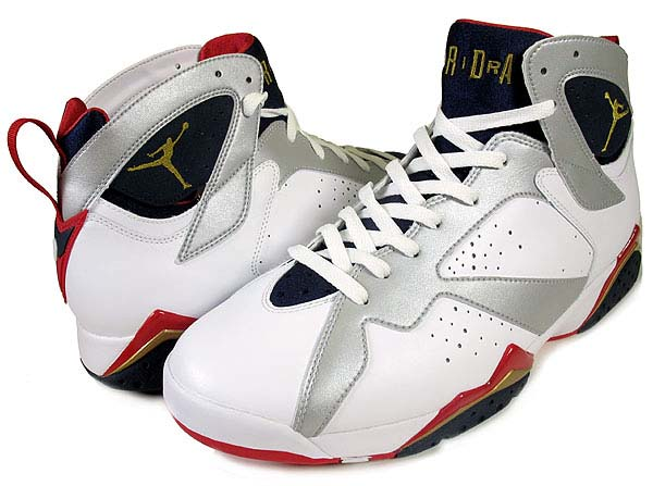 NIKE AIR JORDAN 7 RETRO OLYMPIC [WHITE / METALLIC GOLD-MIDNIGHT NAVY] 304775-171