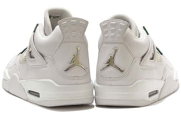 NIKE AIR JORDAN 4 RETRO [WHITE/CHROME-CLASSIC GREEN] 308497-101