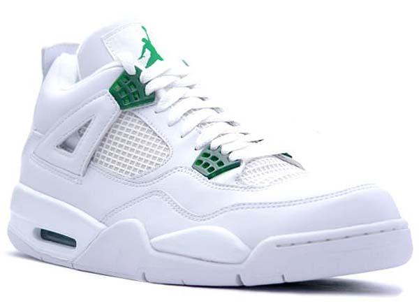 NIKE AIR JORDAN 4 RETRO [WHITE/CHROME-CLASSIC GREEN] 308497-101