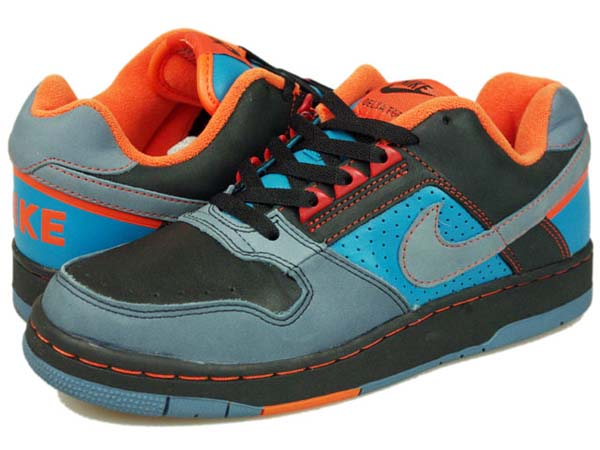 NIKE ZOOM AIR DELTA FORCE LOW SB [BLACK/BLUE/ORANGE」 309784-341