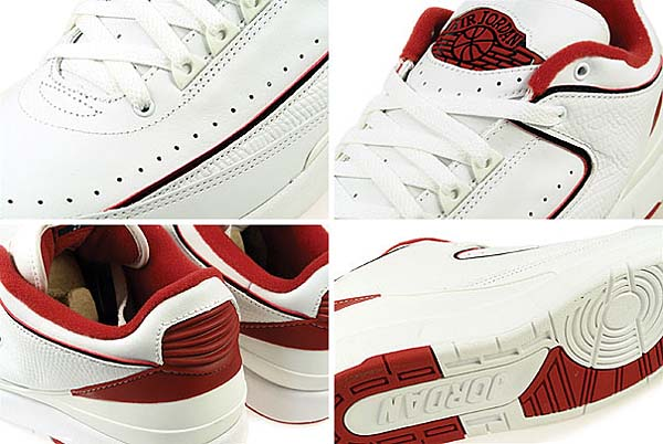 NIKE AIR JORDAN 2 RETRO LOW [WHITE / BLACK-VARSITY RED] 309837-101