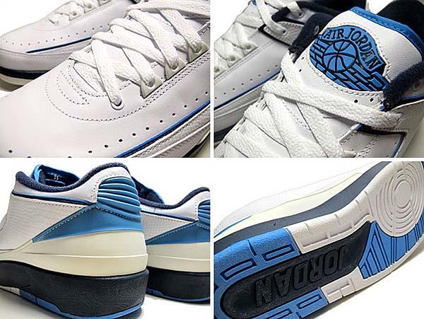 NIKE AIR JORDAN 2 RETRO LOW [WHITE / MIDNIGHT NAVY-UNIV BLUE] 309837-141