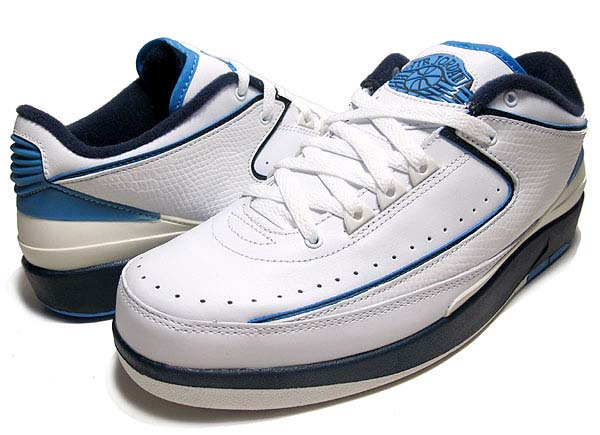 NIKE AIR JORDAN 2 RETRO LOW [WHITE / MIDNIGHT NAVY-UNIV BLUE] 309837-141