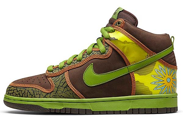 NIKE DUNK HIGH PRO SB DE LA SOUL [BAROQUE BROWN / ALTITUDE GREEN] 305050-231