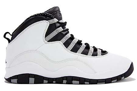 NIKE NIKE AIR JORDAN 10 RETRO [WHITE/BLACK-LT STL GRY-V RED] 310805-101 画像