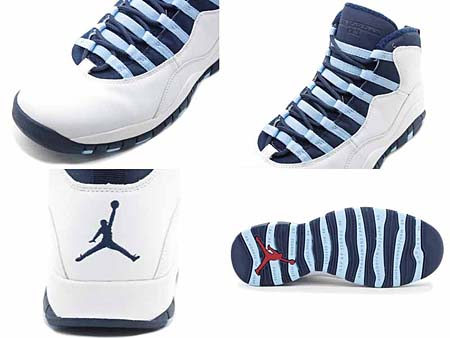 NIKE AIR JORDAN 10 RETRO [WHITE/OBSIDIAN-ICE BLUE-V.RED] 310805-141