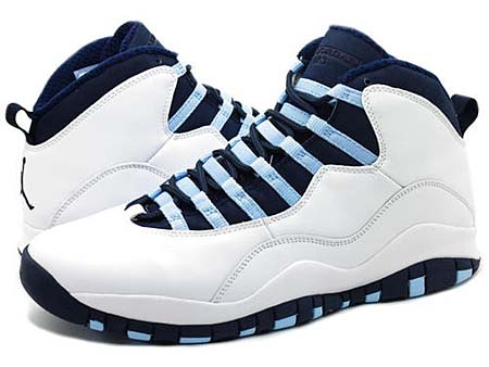 NIKE NIKE AIR JORDAN 10 RETRO [WHITE/OBSIDIAN-ICE BLUE-V.RED] 310805-141 画像