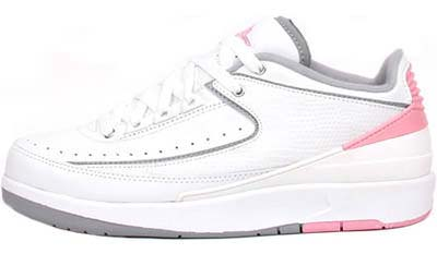 NIKE WMNS AIR JORDAN 2 RETRO LOW [WHITE/LT STEEL GREY/REAL PINK] 311648-103