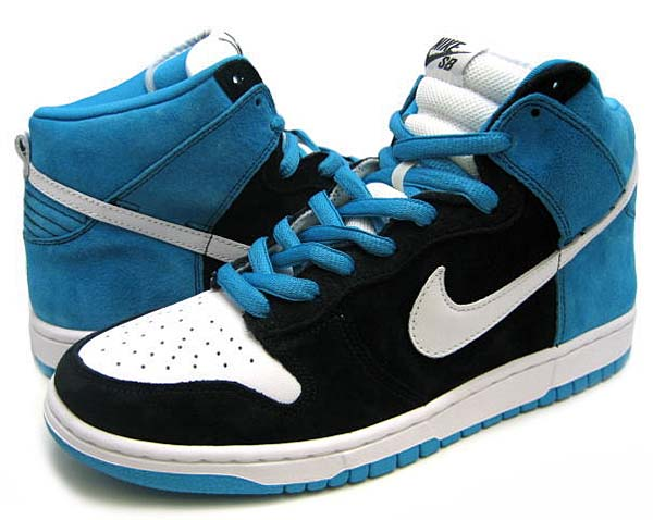 NIKE DUNK HIGH PRO SB CONSOLITED [BLACK/WHITE-BLUE REEF] 305050-014