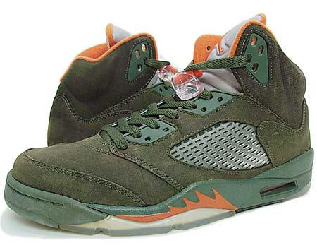 NIKE NIKE AIR JORDAN 5 LS [OLIVE/ORANGE] 314259-381 画像