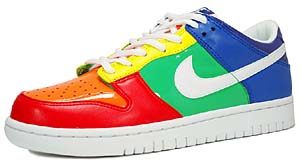 nike dunk low gs [orange blaze/white-sport red-zest](306339-811) ナイキ ダンク ロー 「レインボー」