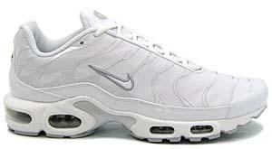 nike air max plus leather [white/white-neutral grey] (310721-111) ナイキ エアマックスプラス レザー 「白/銀/レザー」
