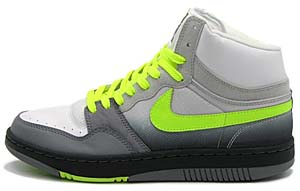 nike court force high basic [white/volt-cool grey-neutral grey air max'95] (314362-171) ナイキ コートフォース ハイ ベーシック 「イエローグラデ エアマックス95」
