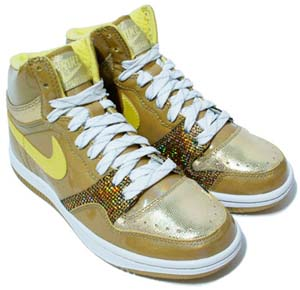 nike wmns court force high le [gold/lt yellow] (316117-771) ナイキ コートフォース ロー LE 「ミラーボール ゴールド」