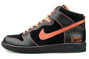 nike dunk high premium [nyc/p-giants black/s.orange-black] (316142-081) ナイキ ダンク ハイ プレミアム 「NYC/黒オレンジ」