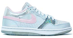 nike wmns court force low le [silver/pink] (316399-061) ナイキ コートフォース ロー LE 「ミラーボール シルバー」