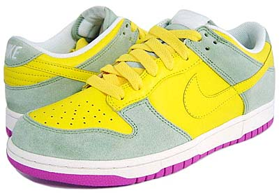 nike wmns dunk low cl [t.yellow/t.yellow-aa grey- pinkfire] (317815-771) ナイキ ダンク ロー CL 「イエロー/ピンク」