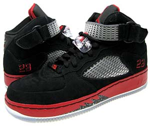 nike air jordan fusion 5 [black/white/varsity red] (318608-