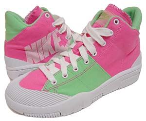 nike wmns outbreak high [dark pink/white-tourmaline] (318635-611) ナイキ アウトブレイク ハイ 「ピンク/グリーン」