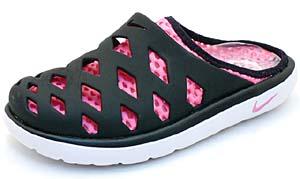 nike wmns air rejuven8 mule [black/pink/white] (318924-061) ナイキ エア リジュビネイト ミュール 「ブラック/ピンク」