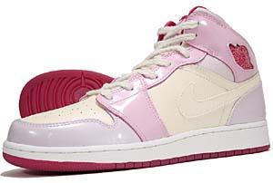 nike girls jordan 1 [soft pearl/rg red-vnc-pink illsn] (322678-061) ナイキ エアジョーダン1 「ピンク/パール」