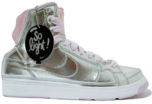 nike wmns air troupe mid [silver/pink] (324922-001) ナイキ エア トゥループ ミッド 「シルバー/ピンク」