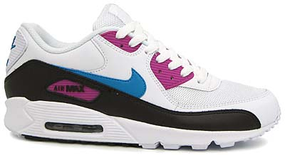 nike air max 90 [white/neo turquoise-rave pink-black] (325018-141) ナイキ エアマックス90 「白/青/ピンク」