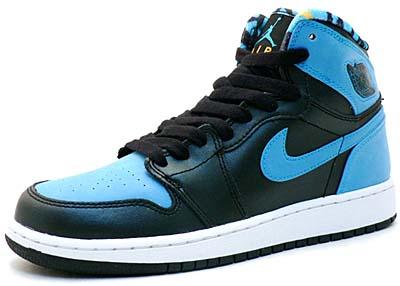 nike gs jordan 1 retro high [black/vivid blue] (332148-041) ナイキ ジョーダン1 ハイ GS 「ブラック/ビビッドブルー」